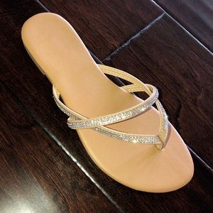 d41f5725656e25 Shoes -     PRICE IS FIRM    nude rhinestone sandals